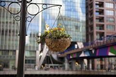 LONDON, GROSSBRITANNIEN - CANARY WHARF, AM 22. MÄRZ 2014 Lizenzfreies Stockfoto