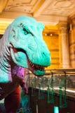 LONDON, GROSSBRITANNIEN - 27. JULI 2015: Naturgeschichtemuseum - Details vom Dinosaurus Lizenzfreies Stockfoto