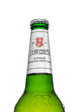 LONDON, GROSSBRITANNIEN - 15. MÄRZ 2017: Flasche Kesselbier auf weißem Hintergrund Kesselbrauerei wurde im Jahre 1873 in Bremen,  Lizenzfreie Stockfotos