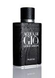LONDON, GROSSBRITANNIEN - 11. NOVEMBER 2016: Giorgio Armani, Duft Acqua di Gio für Männer ist einer des immergrünen Bestseller- P Lizenzfreie Stockfotografie