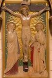 LONDON, GROSSBRITANNIEN - 17. SEPTEMBER 2017: Die Kreuzigung als die Station des Kreuzes in der Kirche von St. James Spanish Plac Lizenzfreies Stockfoto