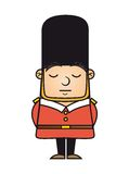 London guard. Isolated over white background. vector illustration Stock Photography