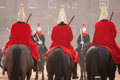 London guards. London queen's guards on their horses Stock Photography