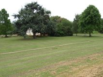 London Gunnersbury parkerar engelska som landskapet parkerar royaltyfria foton