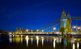 London. Hammersmith Bridge West London Capital of United Kingdom Thames River Royalty Free Stock Images