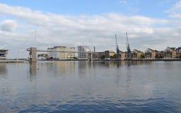 London hamnkvarter Arkivfoton