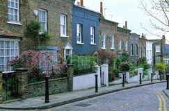 London, Hampstead. Habitat and typical street in Hampstead in London Royalty Free Stock Images