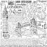 London. Hand drawing set of vector sketches royalty free illustration