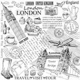 London hand drawn Royalty Free Stock Image