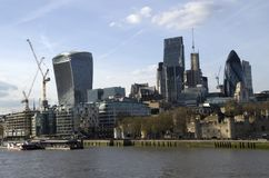 City of London skyline with the new buildings. London has nice modern architectures in the city center Stock Images