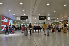 London Heathrow airport arrivals Royalty Free Stock Photo