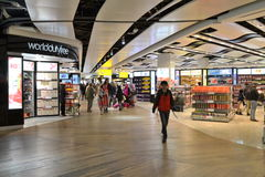 London Heathrow Airport Duty Free Shops. Interior of London Heathrow Airport with Duty Free Shops Stock Image