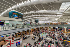 London Heathrows Terminal 5 departure lounge Royalty Free Stock Photo
