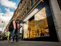 London High Street; Russell and Bromley Shop, Knightsbridge Royalty Free Stock Photo