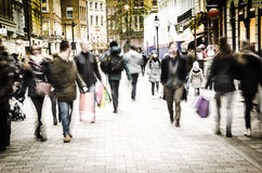 London High Street shoppers Royalty Free Stock Image