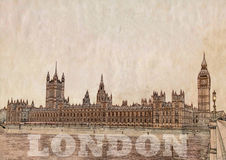 London-Hintergrundillustration Stockfoto