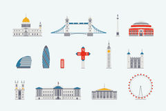 London  historical and modern building Royalty Free Stock Photos