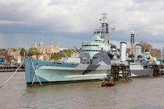 London - HMS Belfast Stock Photography