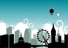 london horisont vektor illustrationer