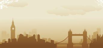 London horisont Stock Illustrationer