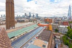 London horisont av london från aeralsikt Royaltyfri Foto