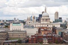 London horisont av london från aeralsikt Royaltyfria Foton