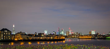 London horisont från Canary Wharf Royaltyfri Foto