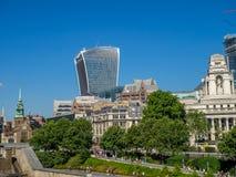 London horisont från tornet av London arkivbild