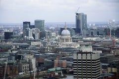 London horisont som fotograferas från det London ögat Arkivbilder