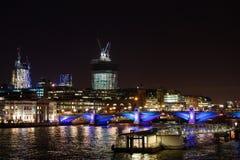 London horisont vid natt Royaltyfri Foto