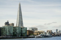 London horisont, vid Themsen Royaltyfri Foto