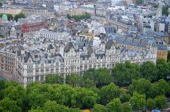 London horisontlandskap med Big Ben, slott av Westminster, London öga, Westminster bro, flodThemsen, London, England, UK Arkivbild