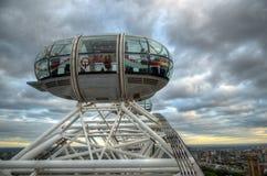 London horisontlandskap med Big Ben, slott av Westminster, London öga, Westminster bro, flodThemsen, London, England, UK Arkivfoton