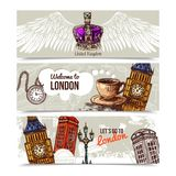 London Horizontal Banners Royalty Free Stock Photos