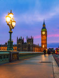 London - House of Parliament Night Stock Images