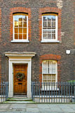 London house. Typical London house facade during Christmas period Royalty Free Stock Photos