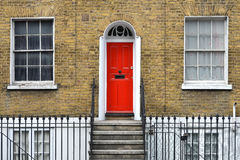 London house. Typical Georgian London terraced house and door Royalty Free Stock Photography