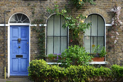 London house. Typical Georgian London terraced house and door Stock Image