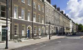 London Houses. Houses in Bloomsbury in London, UK Royalty Free Stock Image
