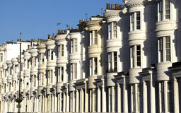 London Houses. Row of white houses in London Bayswater district Stock Images