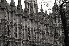 London Houses of Parliament. Architectural detail Royalty Free Stock Photography