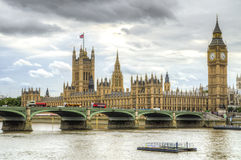 London - Houses of Parliament & Big Ben. London - Houses of Parliament / Big Ben Royalty Free Stock Photography