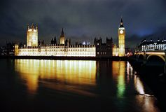 London, Houses of Parliament at night Stock Photography