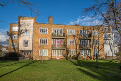 London houses on a sunny day Royalty Free Stock Image
