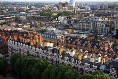 London Housing Stock from above Stock Photos