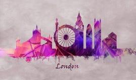 London huvudstad av England, horisont royaltyfri illustrationer