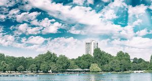 London Hyde Park on a beautiful summer day.  Stock Image