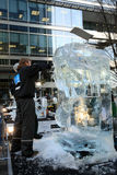 London Ice Sculpting Festival 2012 Royalty Free Stock Photography