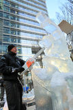 London Ice Sculpting Festival 2012 stock photography