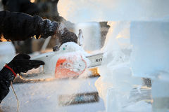 London Ice Sculpting Festival 2012 Royalty Free Stock Images